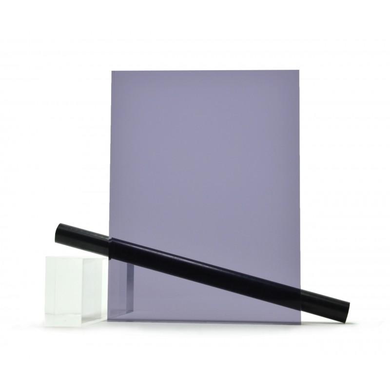 PMMA (Plexi) Fumé Gris Bleu Brillant ep 10 mm