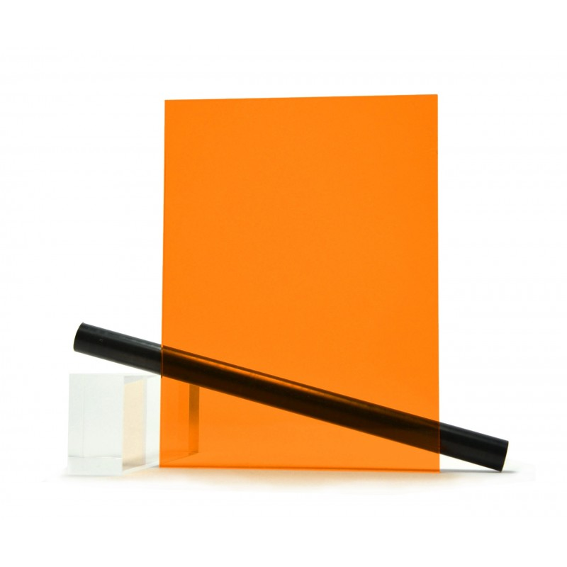 PMMA (Plexi) Orange Brillant ep 3 mm
