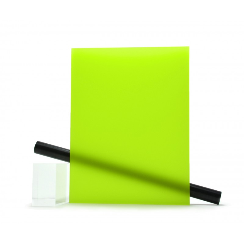 PMMA (Plexi) Vert mat ep 6 mm