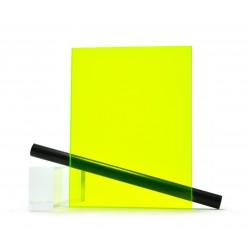 PMMA (Plexi) Jaune Fluo Brillant ep 3 mm