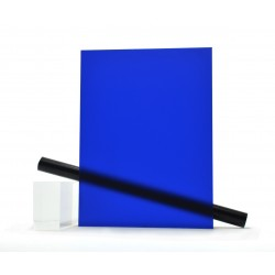 PMMA (Plexi) Bleu mat ep 4 mm