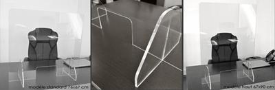 protection plexiglass pour comptoir